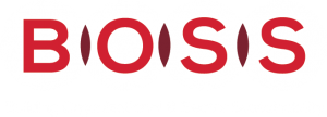 """BOSS logo reversed (red letters on white circles). Text underneath reads: Building Organizational and Sector Sustainability."""""""